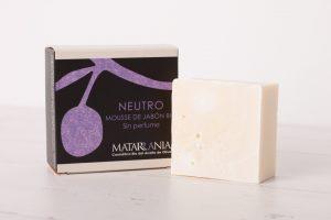 Neutro. Mousse de jabón BIO. Sin perfume – MATARRANIA